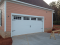Custom White Garage Door
